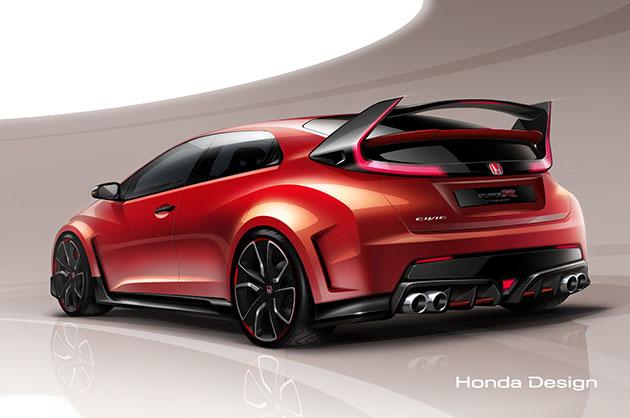 AUTO EXPRESS test Honda Civic Type R koncept