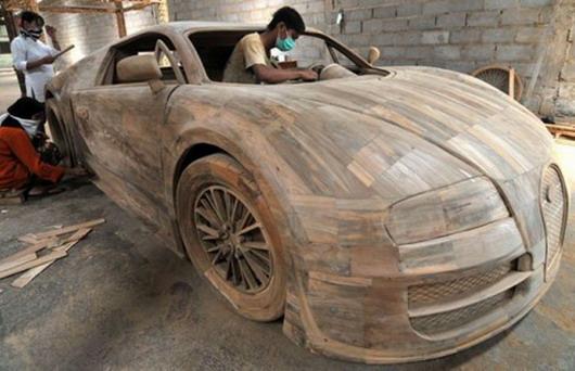 Bugatti Veyron napravljen potpuno od drveta