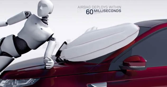 Land Rover inovacija: vazdušni jastuk za pešake