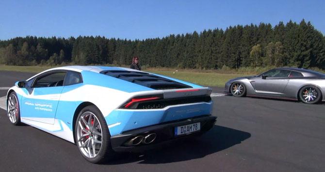 Napokon:LamborghiniHuracanLP vsHPNissanRGT R!