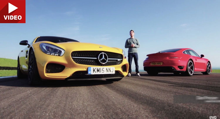 Video:MercedesAMGGTSprotivPorscheTurbonastazi