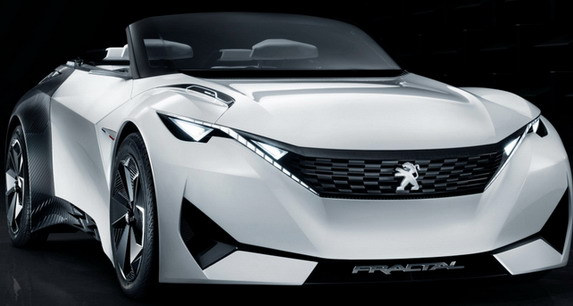 Procurele slike Peugeot Fractal koncepta na električni pogon