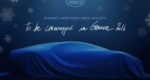 Bugatti Chiron u Božićnoj čestitki