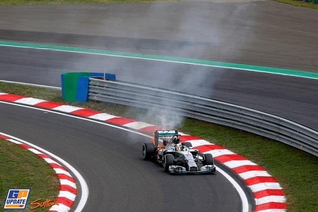 Hamilton Hungaroring fire