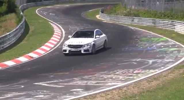 Mercedes BenzCAMGsedansnimljentokomtestiranjanaRingu