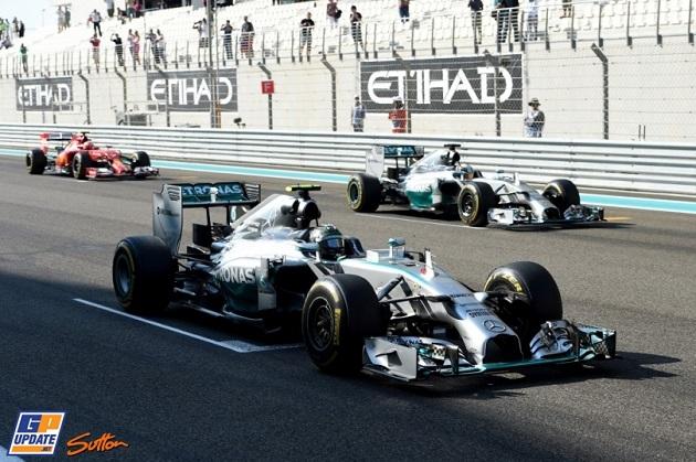 Rosberg Hamilton Abu Dhabi