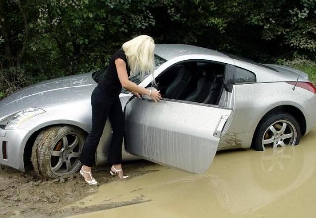 zena vozač