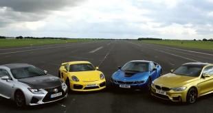 PorscheCaymanGTvsBMWMvsLexusRC FvsBMWi[Video]