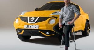 Nissan Juke origami replika u punoj veličini [Video]