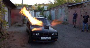 """Ludi Rus ugradio mlazni pogon iz aviona MiG 23 u BMW """"kockicu"""""""