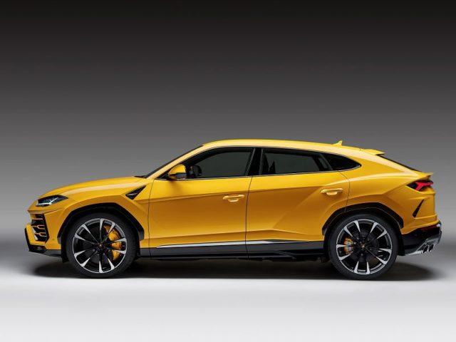 Lamborghini Urus Yellow Side Profile