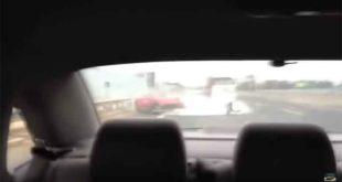 VIDEO: Totalno uništio Ferrari 458 prilikom pokušaja preticanja